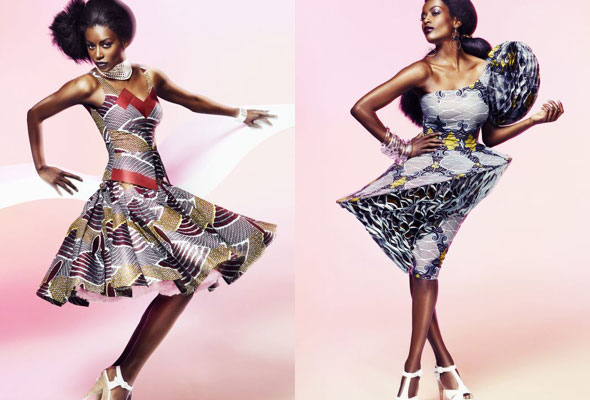 The collection elucidates the disparity between silhouettes and movement with a colorful blurring effect