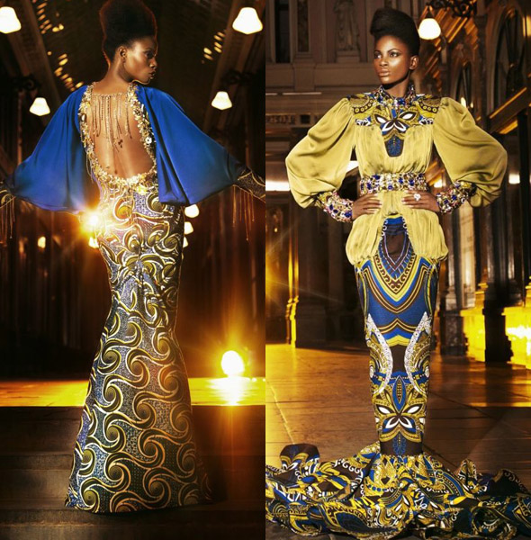 mysterious woman wandering in the night by vlisco